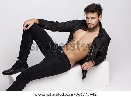 Sexy undress model posing - stock photo