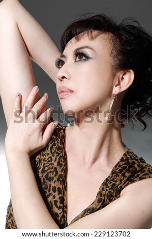 sexy woman portrait - stock photo