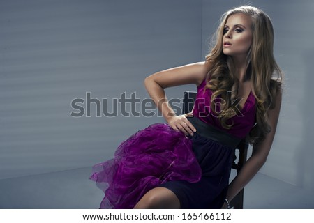 Sexy woman wearing dress  - stock photo