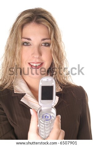 sexy woman with camera phone