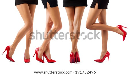 Sexy women legs - stock photo