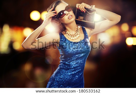 Sexy young beauty posing - stock photo