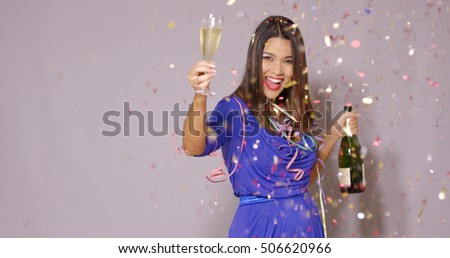 Sexy young woman celebrating New Year