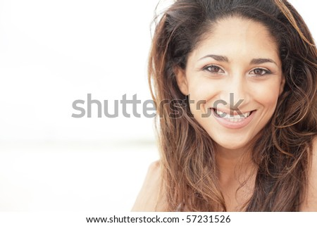 Sexy young woman smiling