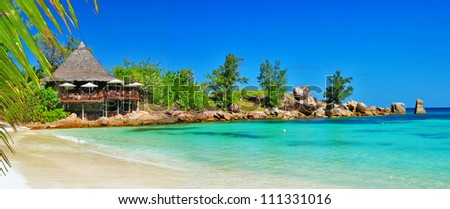 Seychelles - turquoise paradise - stock photo