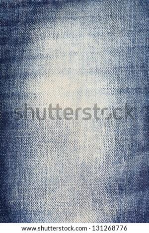 shabby denim background, close-up - stock photo
