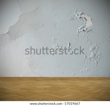 shabby interior - stock photo
