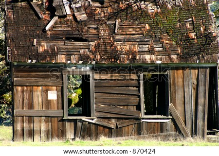 Shabby Shack Close up - stock photo