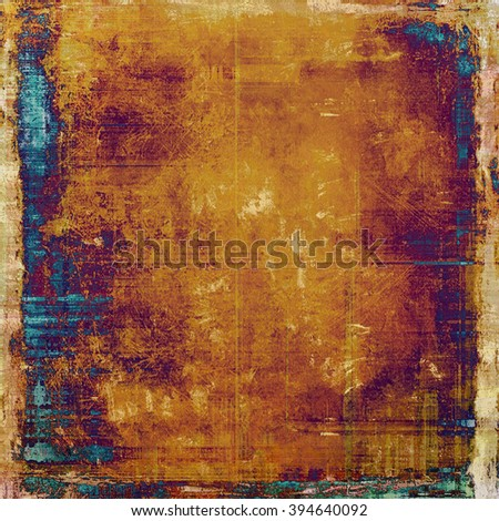Shabby texture or background with classy vintage elements. Grunge backdrop with different color patterns: blue; yellow (beige); brown; purple (violet); red (orange) - stock photo