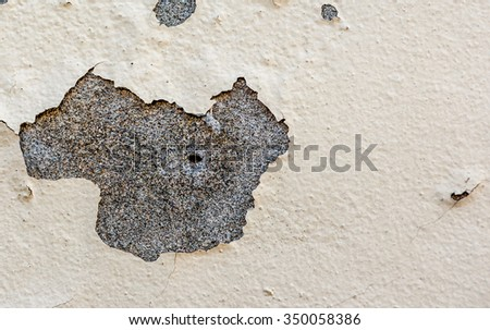 Shabby wall with cracks and paint - stock photo
