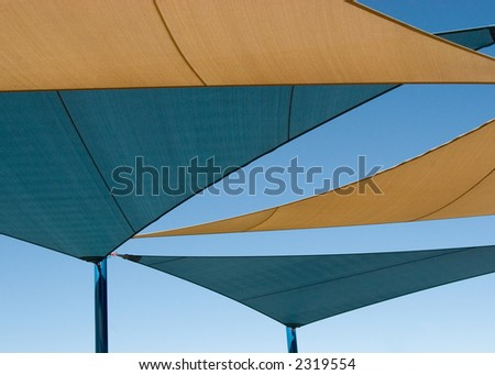 Shade Structure over Playground in Las Vegas, Nevada - stock photo
