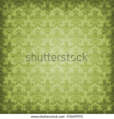 Shaded Damask Background - stock photo