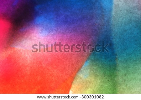Shades of colored transparent plastic on white paper abstract. Artistic color shade background.  - stock photo