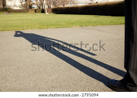 Shadow of a business man
