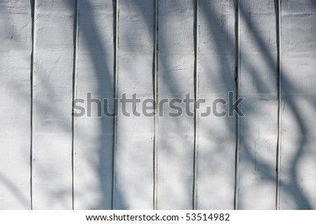 shadow on white-washed wall