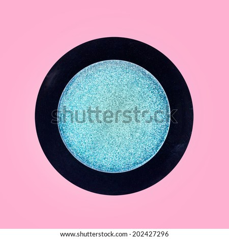 shadows  on pink background - stock photo
