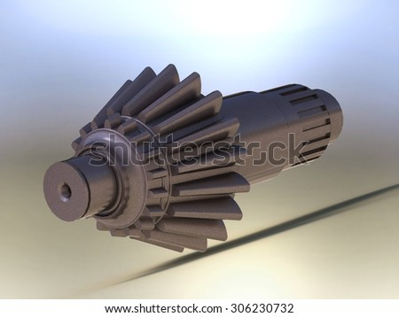 shaft - stock photo