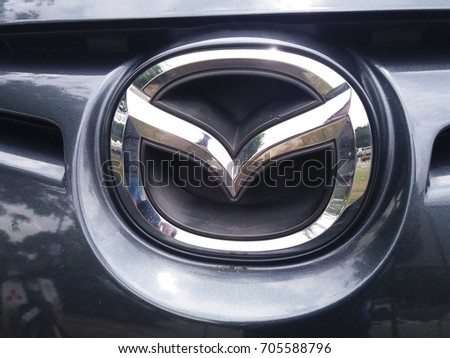 Shah Alam , Malaysia - 28 August 2017 : View of logo MAZDA car