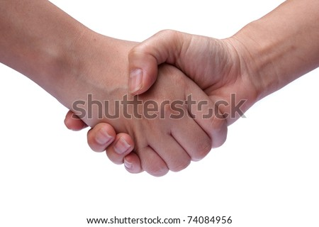 Shake hand - stock photo