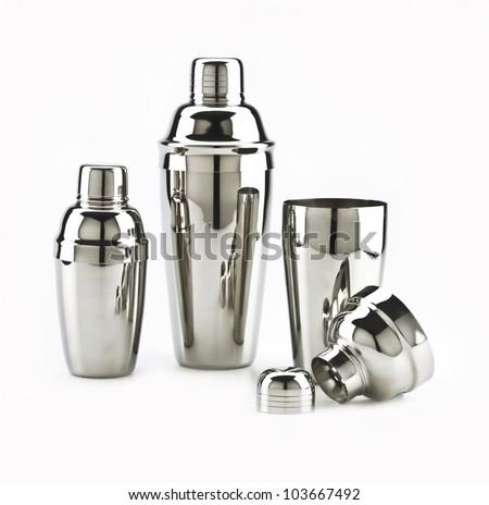 Shakers on white background - stock photo