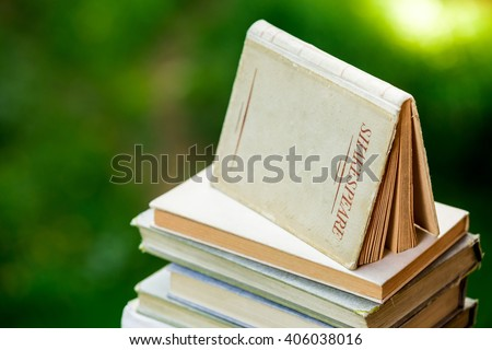 Shakespeare Books Piled Up - stock photo
