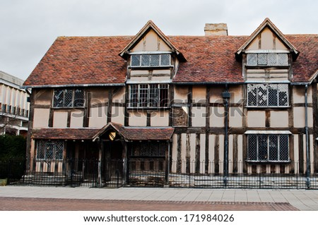Shakespeare's Birthplace in Stratford-Upon-Avon , England - stock photo