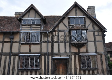 Shakespeare's Birthplace in Stratford-Upon-Avon, England - stock photo