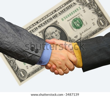 Shaking for dollars - stock photo