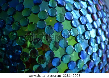 shallow focus close-up of a sequined ball - stock photo