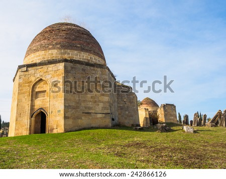 Shamakhi Tomb of Shirvan Dynasty in Azerbaijan - stock photo