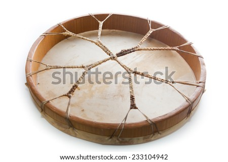 shaman drum - stock photo