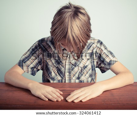 shame little boy - stock photo