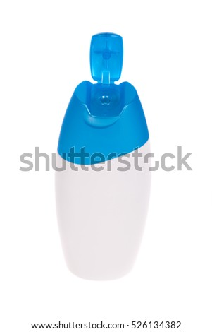 Shampoo bottle isolated on a white background