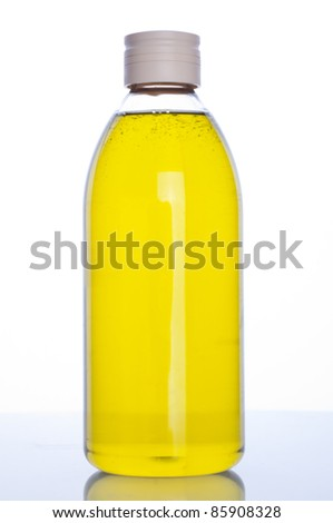 Shampoo bottle isolated on white background. - stock photo
