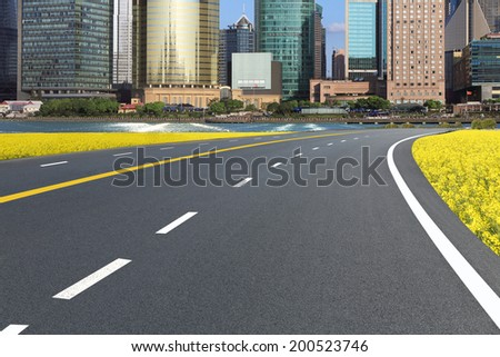 Shanghai automobile road - stock photo