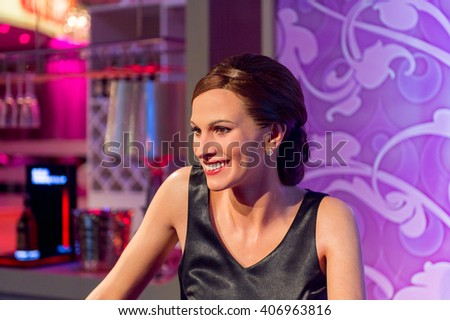 SHANGHAI, CHINA - APR 3, 2016: Julia Roberts at the Shanghai Madame Tussauds wax museum. Marie Tussaud was born as Marie Grosholtz in 1761