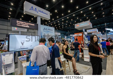SHANGHAI, CHINA - SEPTEMBER 2, 2016: Booth of Mellanox company at Connect 2016 information technology conference and exhibition in Shanghai, China on September 2, 2016.