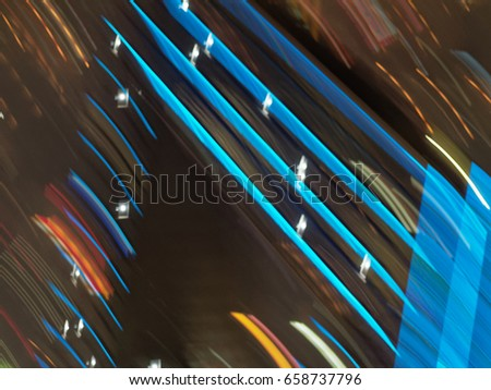 shanghai during night in abstract images