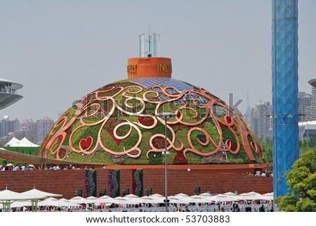 SHANGHAI - MAY 12:  EXPO  India Pavilion.  May 12, 2010 in Shanghai China. - stock photo