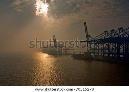 Shanghai Port - stock photo