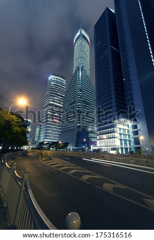 Shanghai Pudong, the city's night