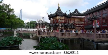 SHANGHAI - SEP 19: 'Yu' Garden, Shanghai's landmark with heritage building architecture, Shanghai, China on September 19, 2010 - stock photo