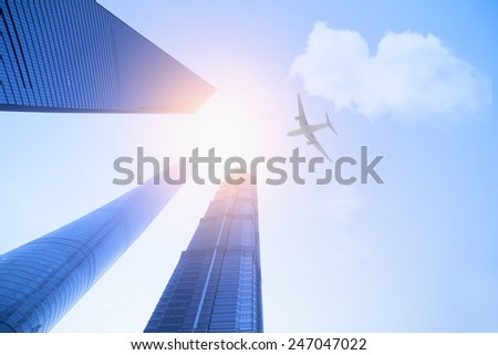 Shanghai top 3 building,landmark of China - stock photo