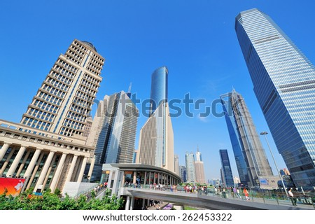 Shanghai urban architecture and skyline - stock photo