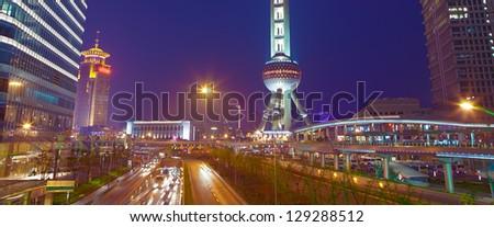 Shanghai  view - stock photo