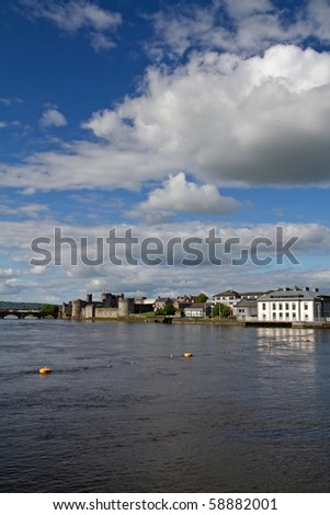 Shannon river view for Limerick - stock photo