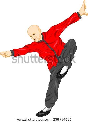 shaolin monk kung fu martial arts - stock photo