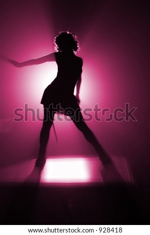 shape of disco dancer in pink color