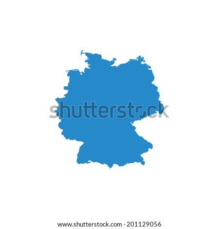 Shape Country Germany Stock Vector Shutterstock - Germany map shape
