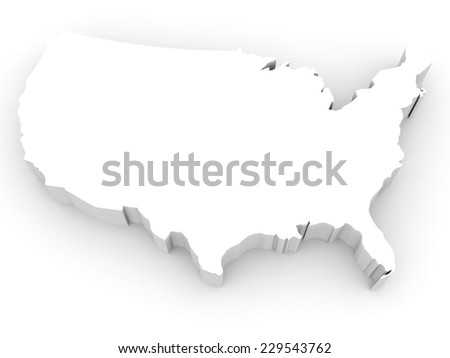 United States America D Metal Map Stock Ilration Us Map 3d